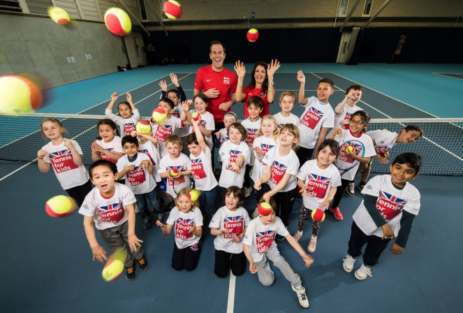 Tennis For Kids 2017 National Launch with Annabel Croft and Greg Rusedski